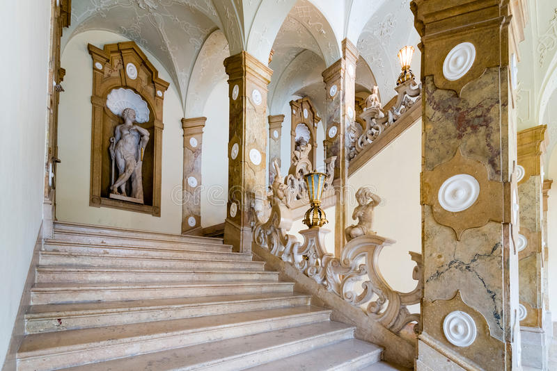 Palácio de Salzburg Residenz em Salzburg, Áustria fotografia de stock