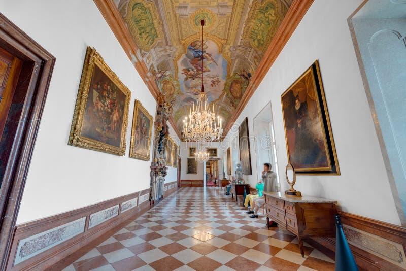 Palácio de Salzburg Residenz em Salzburg, Áustria fotos de stock