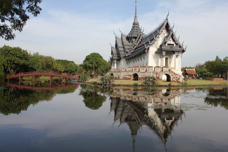 Palácio de Sanphet Prasat fotos de stock royalty free