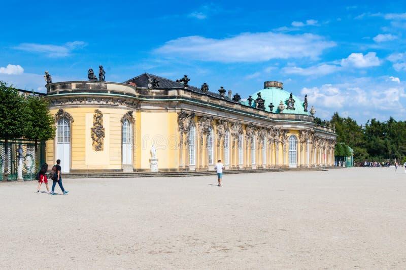 Palácio de Sanssouci Sanssouci é o palácio de verão de Frederick o grande, rei de Prússia foto de stock