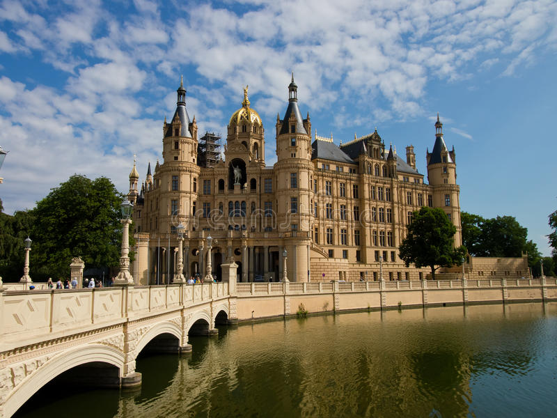 Palácio de Schwerin imagens de stock royalty free
