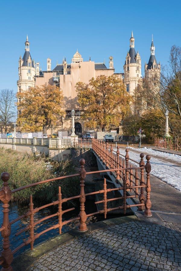Palácio de Schwerin fotos de stock royalty free