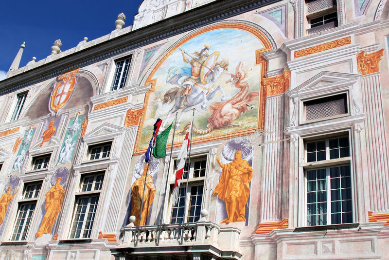 Palácio de St. George em Genoa, Italy imagens de stock