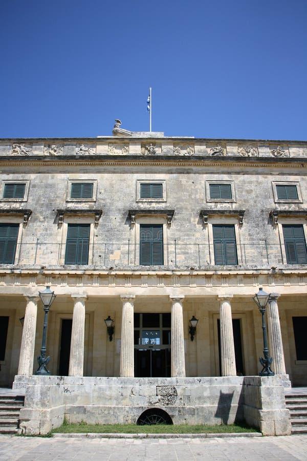 Palácio de St Michael e de St George em Corfu fotos de stock