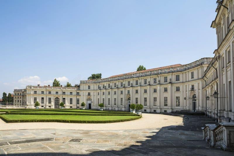 Palácio de Stupinigi em Turin, Itália imagem de stock