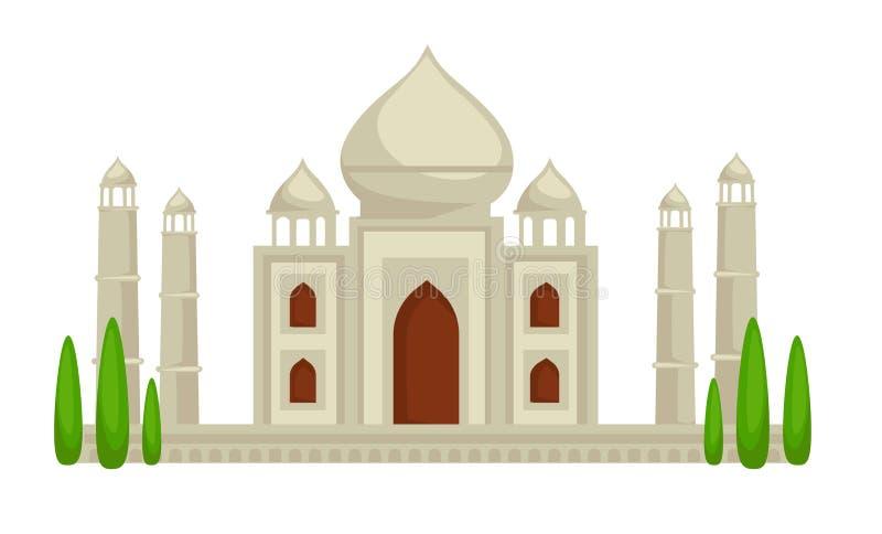 Palácio de Taj Mahal que constrói a arquitetura indiana do símbolo ilustração royalty free