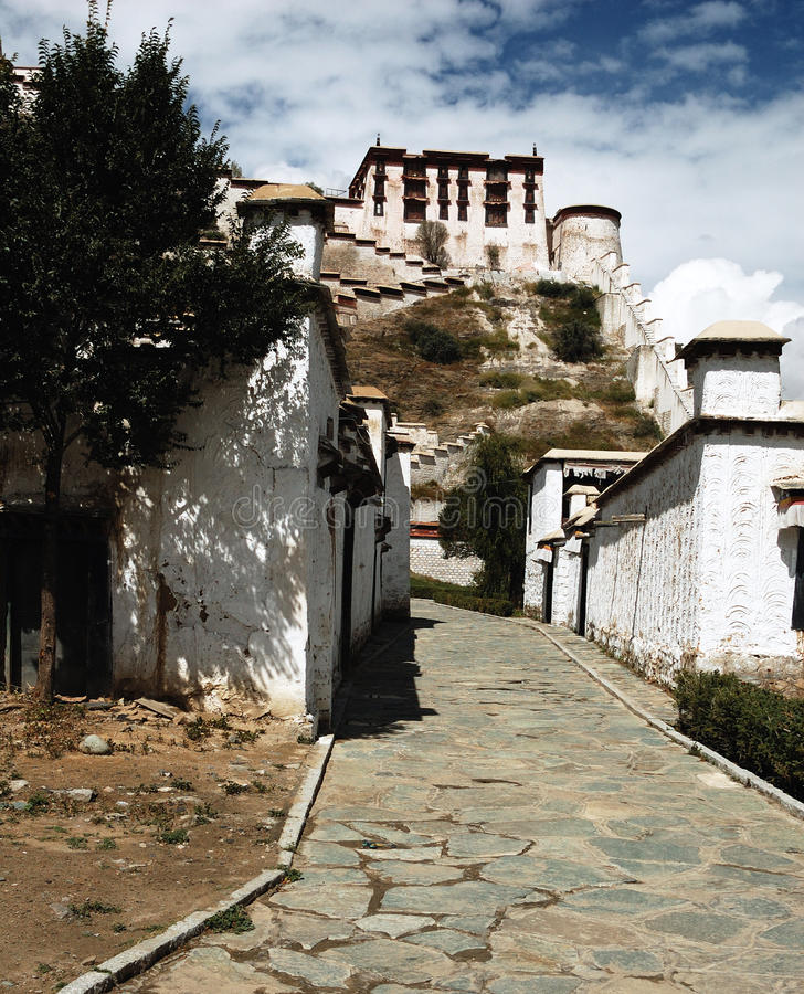 Palácio de Tibet Potala imagem de stock