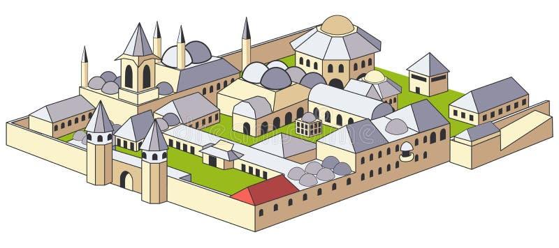 Palácio de Topkapi ilustração stock