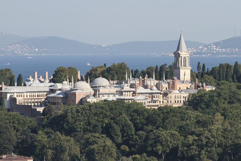 Palácio de Topkapi na cidade de Istambul imagem de stock royalty free