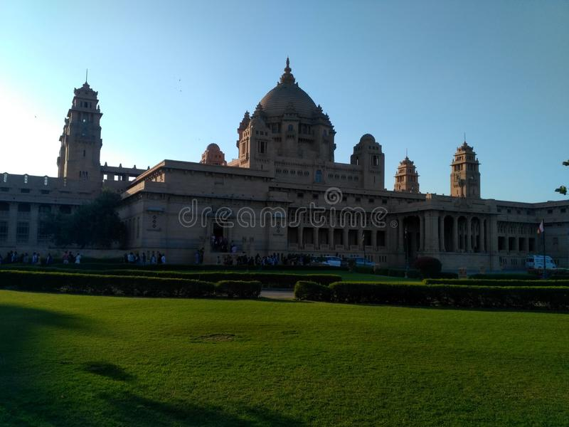 Palácio de Umaid Bhawan fotos de stock royalty free
