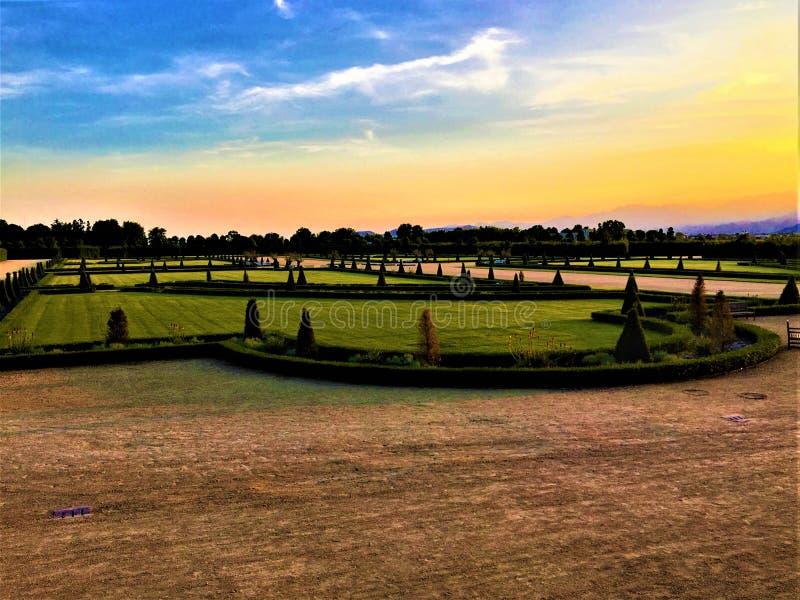 Palácio de Venaria Reale e o jardim real fotos de stock