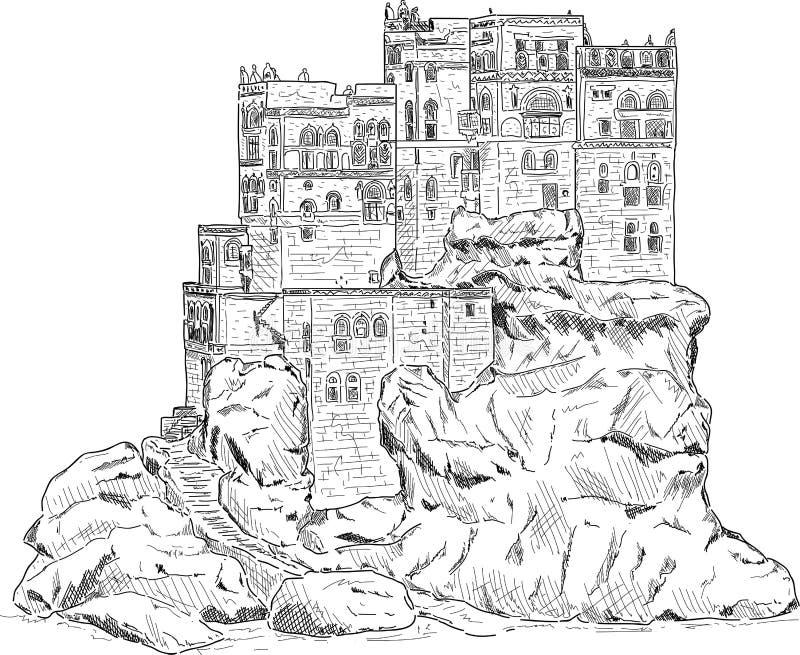 Palácio de verão ilustração do vetor