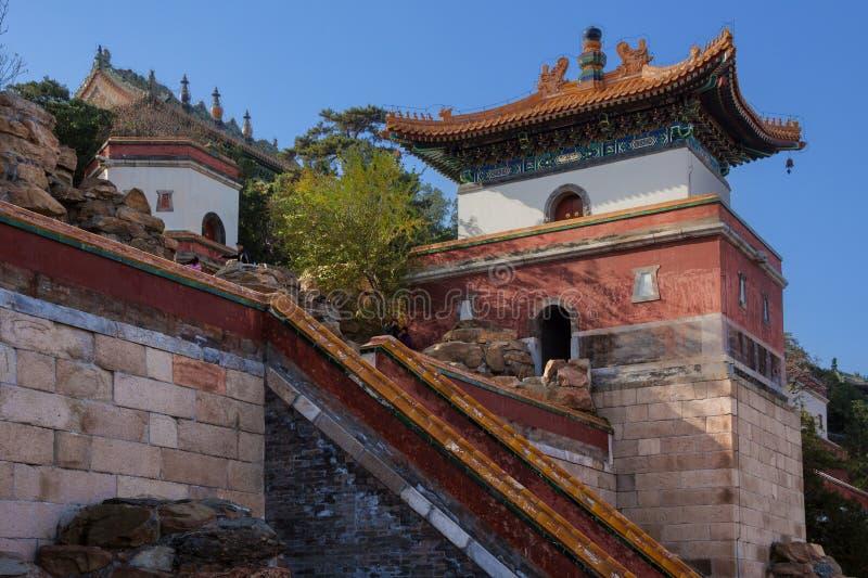 Palácio de verão e jardim imperial no Pequim, China fotografia de stock