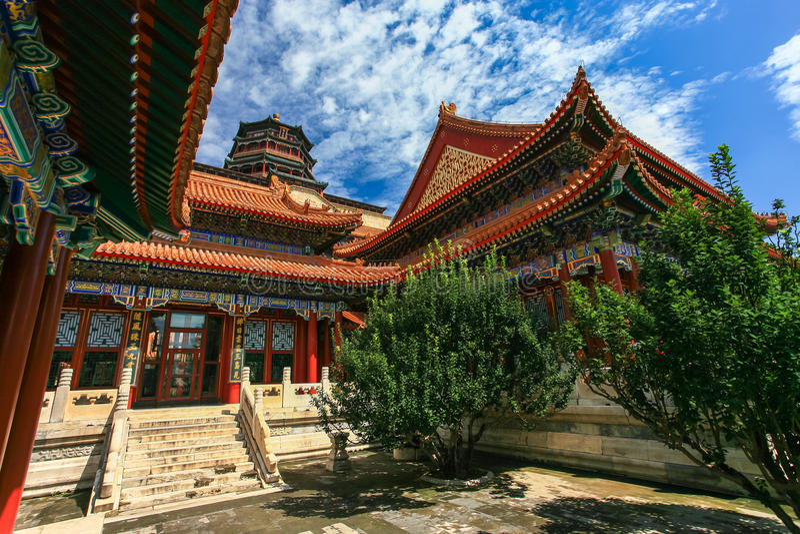 Palácio de verão, Pequim, China imagem de stock