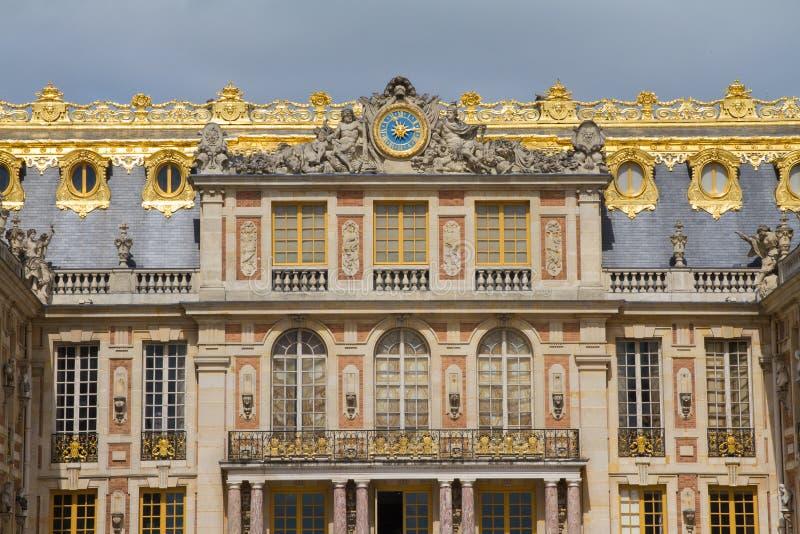 Palácio de Versalhes, detalhe da vista exterior, França imagem de stock