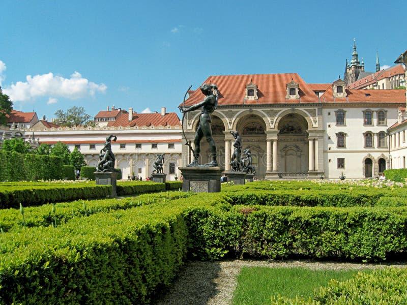 Palácio de Waldstein em Praga República checa Atrações de Praga imagens de stock royalty free