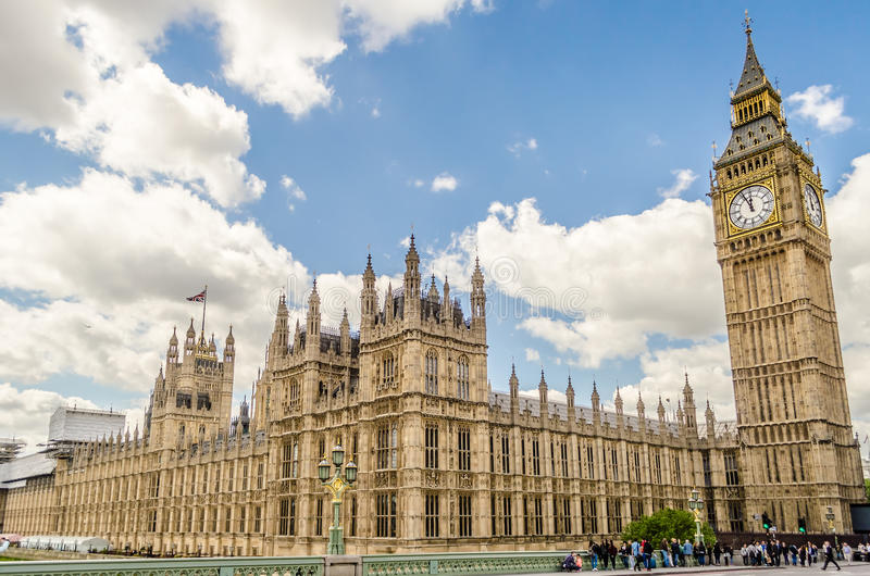 Palácio de Westminster, casas do parlamento, Londres fotografia de stock