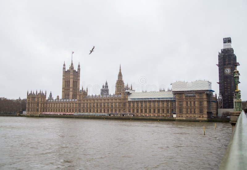 Palácio de Westminster, Londres, em fevereiro de 2019 foto de stock