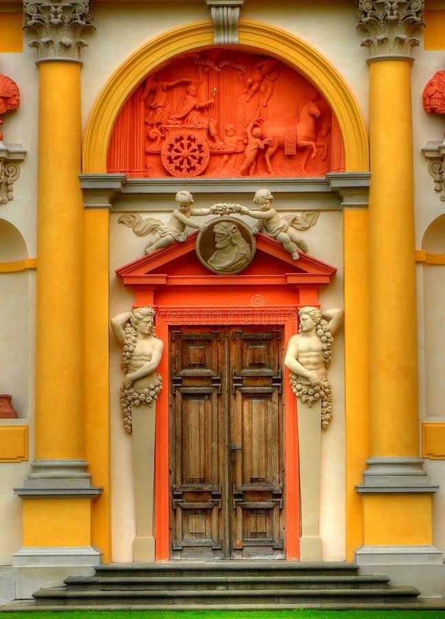 Palácio de Wilanow em Varsóvia imagem de stock