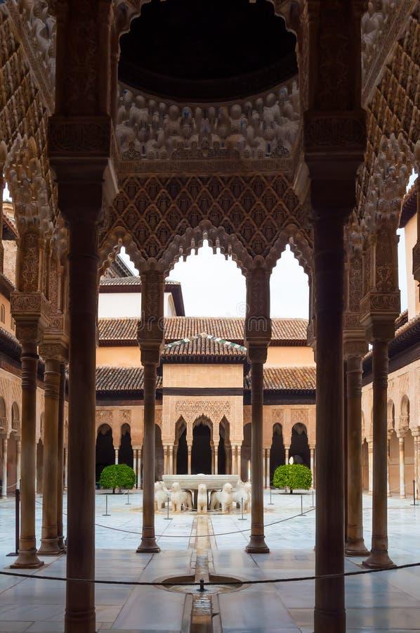 Palácio do Alhambra em Granada foto de stock royalty free