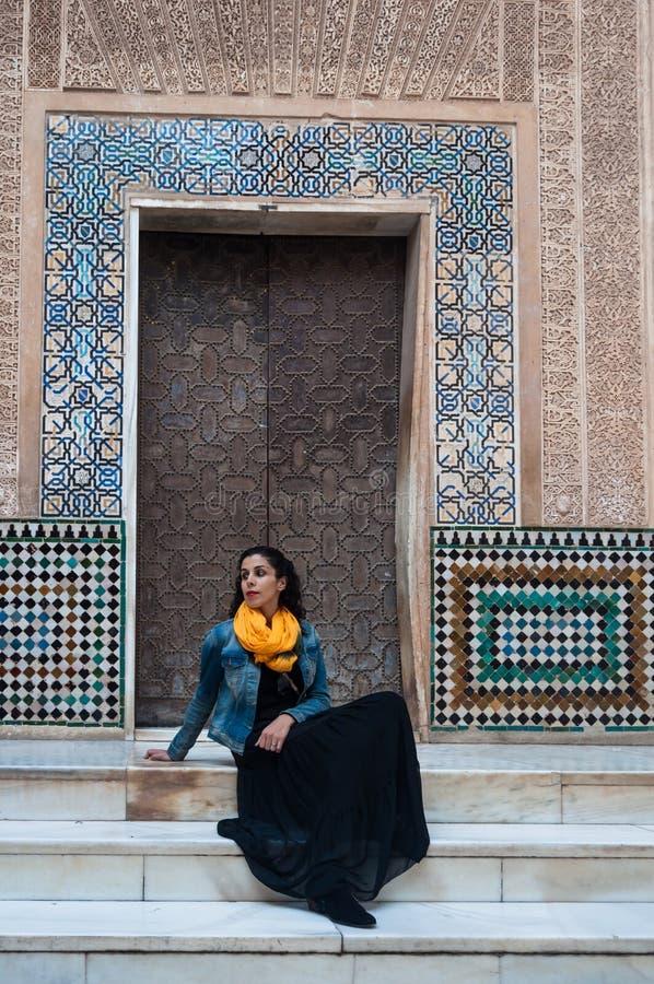 Palácio do Alhambra em Granada foto de stock