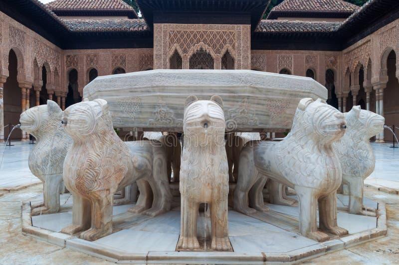 Palácio do Alhambra em Granada imagens de stock royalty free