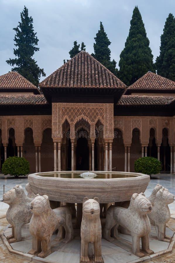Palácio do Alhambra em Granada imagens de stock