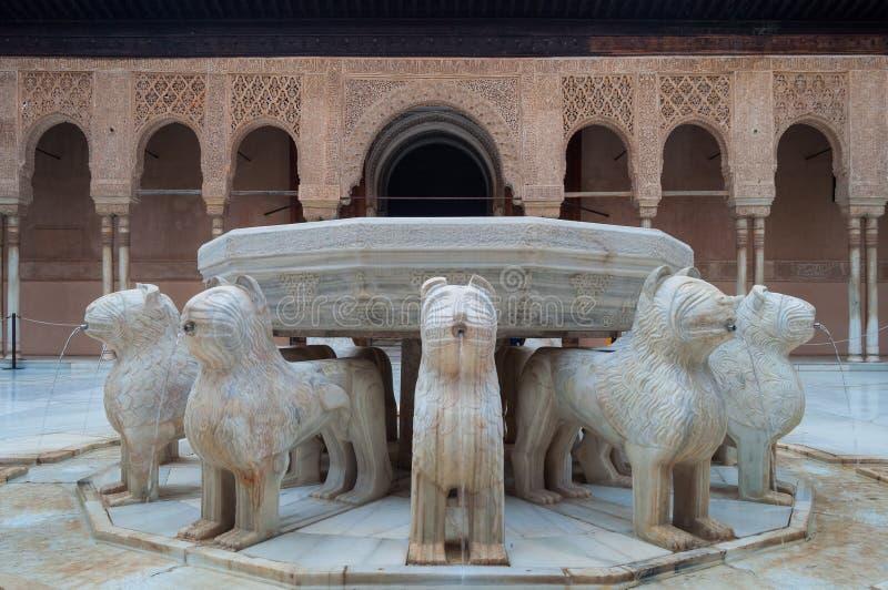 Palácio do Alhambra em Granada fotos de stock