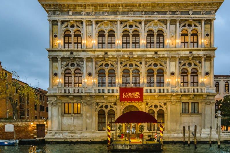 Palácio do casino, Veneza, Itália fotografia de stock