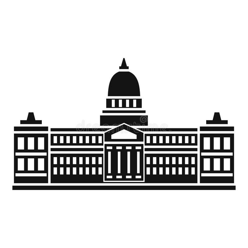 Palácio do congresso, ícone de Argentina, estilo simples ilustração stock