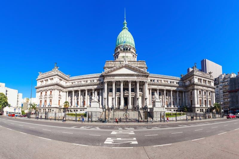 Palácio do congresso nacional de Argentina imagens de stock