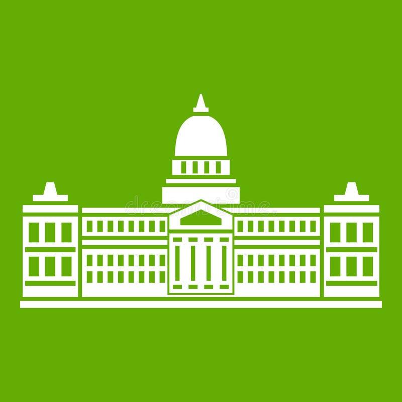 Palácio do congresso, verde do ícone de Argentina ilustração do vetor