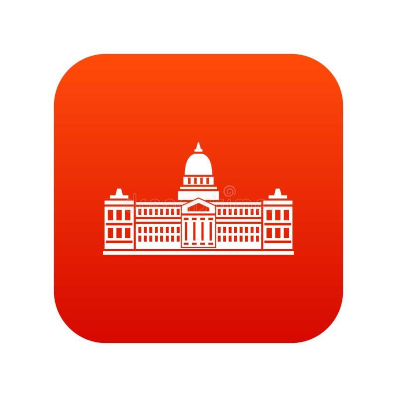 Palácio do congresso, vermelho digital do ícone de Argentina ilustração royalty free