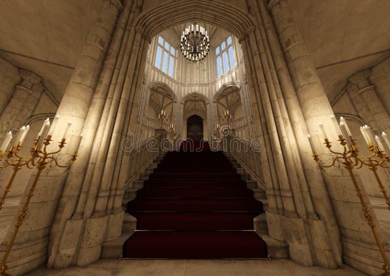 palácio do conto de fadas da rendição 3D ilustração royalty free