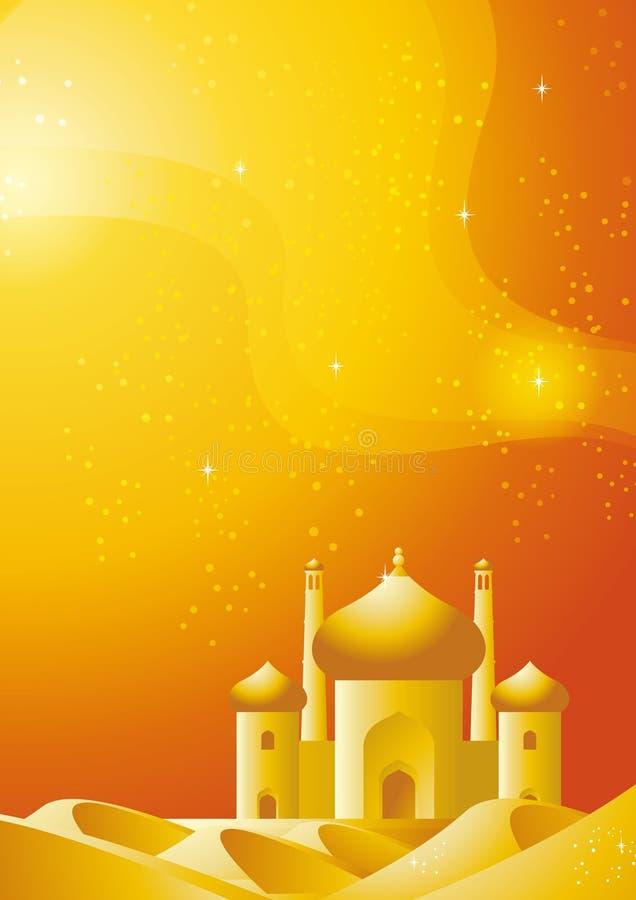 Palácio do deserto ilustração stock