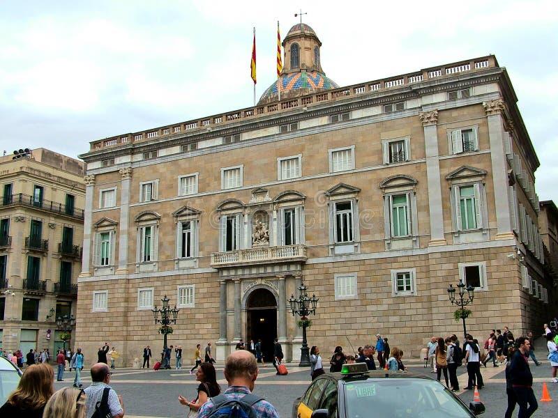 Palácio do Generalitat em Barcelona, Espanha imagem de stock