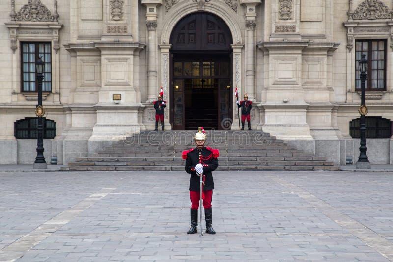 Palácio do governo em Lima, Peru foto de stock