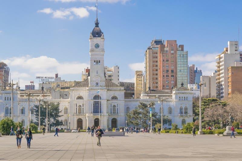 Palácio do governo em Moreno Square no La Plata Buenos Aires fotos de stock