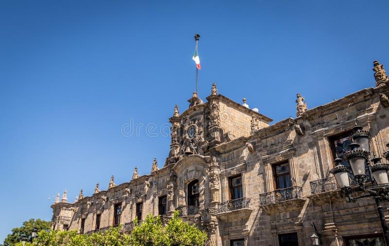 Palácio do governo estadual - Guadalajara, Jalisco, México fotografia de stock royalty free