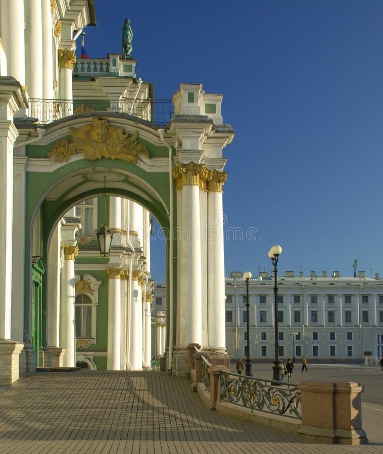 Palácio do inverno em St Petersburg imagem de stock royalty free