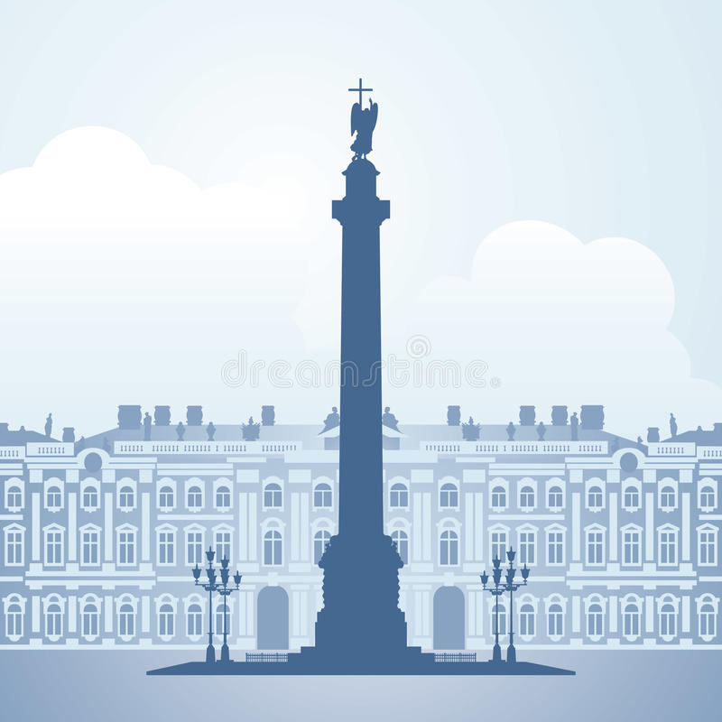 Palácio do inverno, St Petersburg, Rússia ilustração royalty free