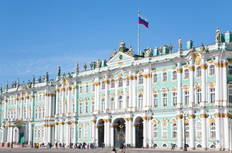 Palácio do inverno, St Petersburg, Rússia fotos de stock royalty free