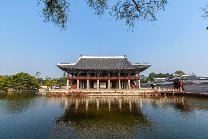 Palácio do lado de Gyeongbokgung foto de stock