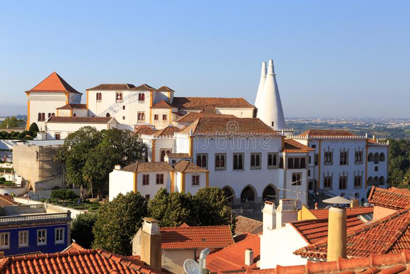 Palácio do nacional de Sintra fotografia de stock royalty free