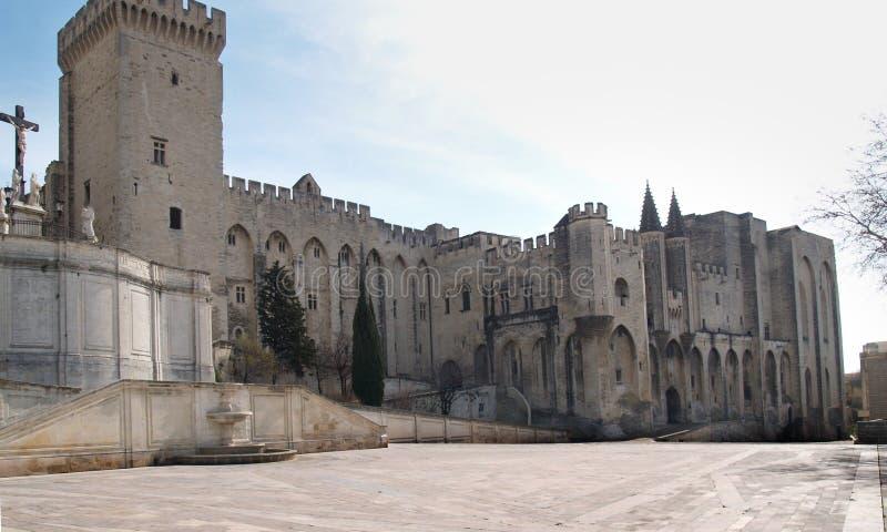Palácio do papa em Avignon: a fachada do sul fotos de stock