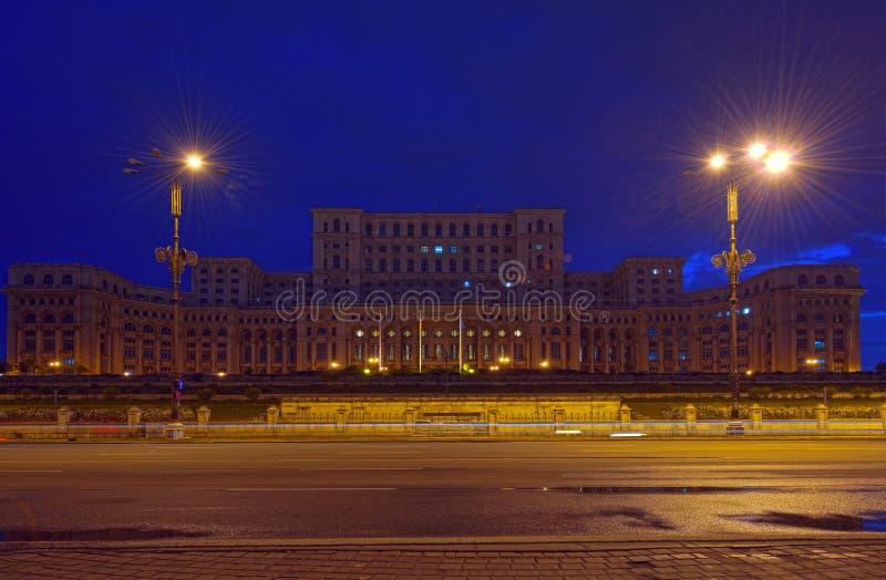 Palácio do parlamento, Bucareste imagens de stock