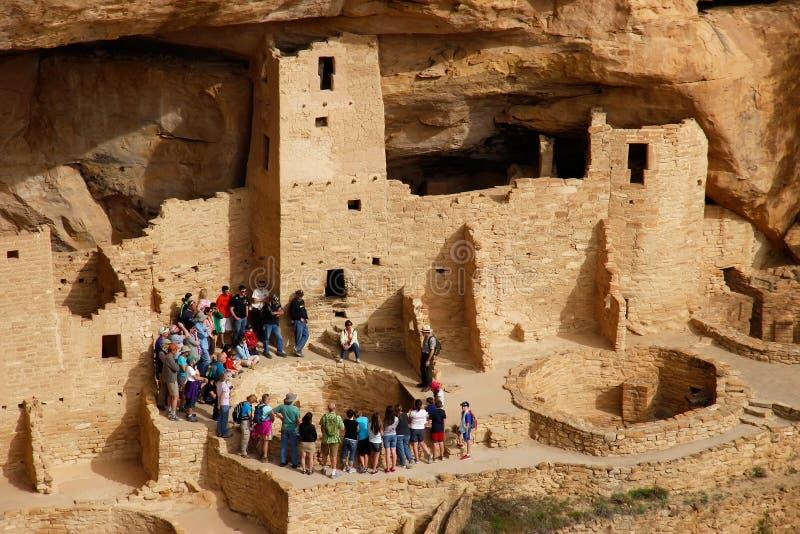 Palácio do penhasco, parque nacional do Mesa Verde, Colorado foto de stock