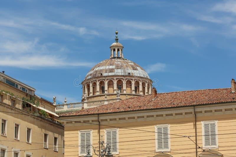 Palácio do regulador s, praça Garibaldi, Parma, Itália foto de stock