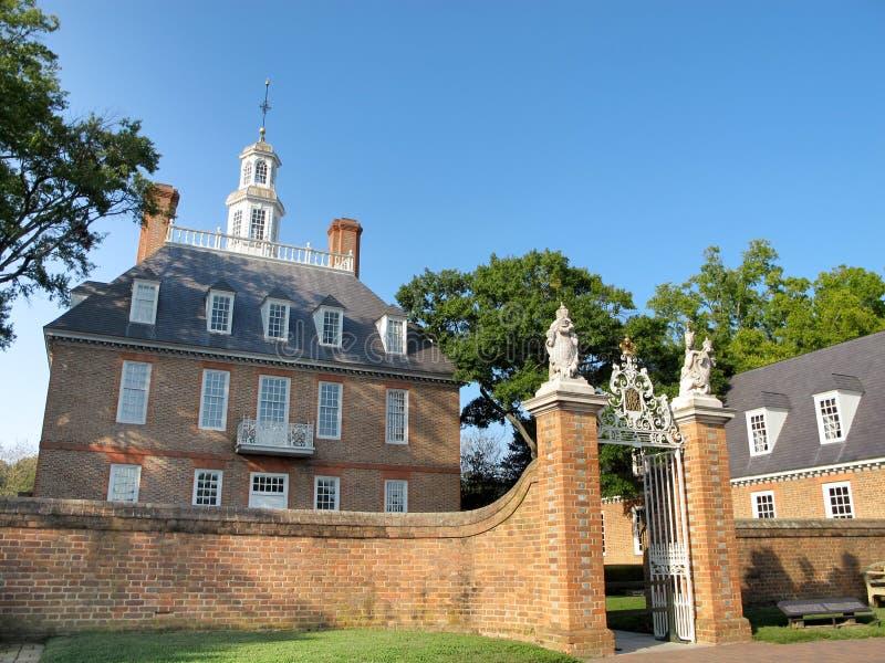 Palácio do regulador, Williamsburg foto de stock royalty free