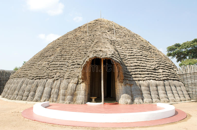 Palácio do rei antigo em Nyanza fotografia de stock royalty free